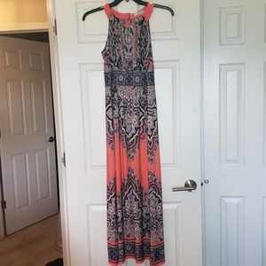 Sandra Darren Coral maxi dress